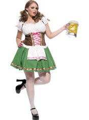 Plus Size Gretchen Oktoberfest Beer Maid Costume Adult