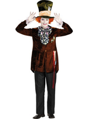 Tim Burton's Alice in Wonderland Mad Hatter Costume Adult Deluxe