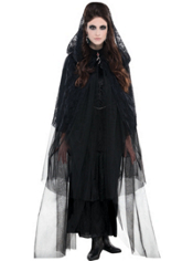 Lace Black Cape Adult