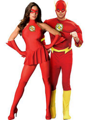 Sexy Flash and Deluxe Flash Muscle Costume Couples Costumes