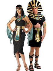 Cleopatra Black and King Tut Couples Costumes