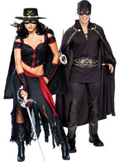 Lady Zorro and Zorro Couples Costumes