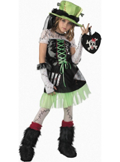 Green Monster Bride Costume Girls