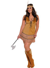 Plus Size Tribal Princess Native American Costume Adult