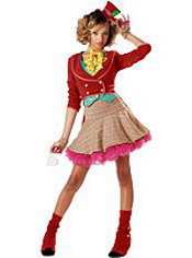 Sassy Mad Hatter Costume Teen Girls