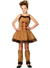Girls Cuddly Lion Costume