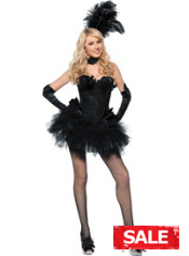 Sexy Black Swan Costume Adult