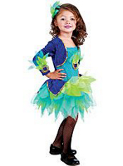 Pretty Peacock Costume Toddler Girls
