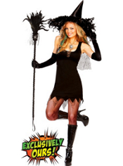 Black Witchy Witch Costume Adult
