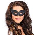 Black Harlequin Domino Mask