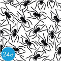 Black Clip On Spiders 24ct