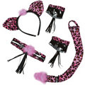 Pink Leopard Costume Accessory Kit