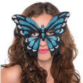 Iridescent Blue Butterfly Mask