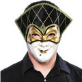 Golden Jester Masquerade Mask