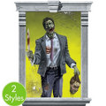 Zombie Window Magic Decorations 2ct