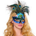 Peacock Feather Mask Adult