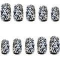 Zebra Print Press-On Nails
