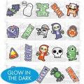 Halloween Glow in the Dark Temporary Tattoos 120ct