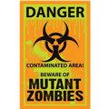 Biohazard Warning Sign Cutout