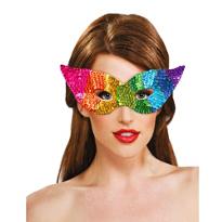 Rainbow Sequin Eye Mask