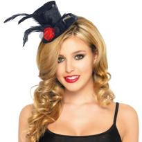 Black Clip-On Mini Top Hat