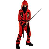 Red Ninja Costume Boys