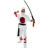 White Ninja Costume Boys